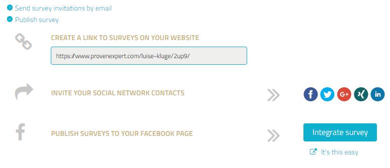 Publishing a survey