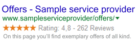 Google seller ratings rich snippet
