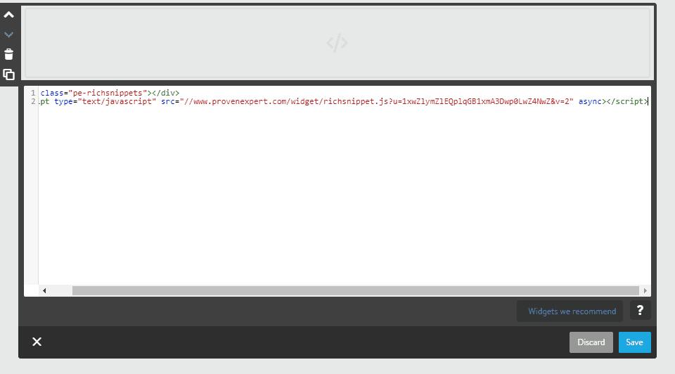 Paste HTML code