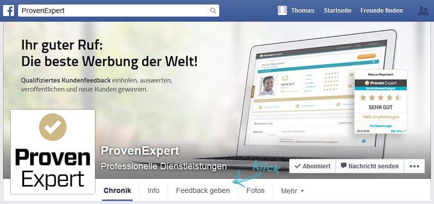 Kundenumfrage auf Facebook