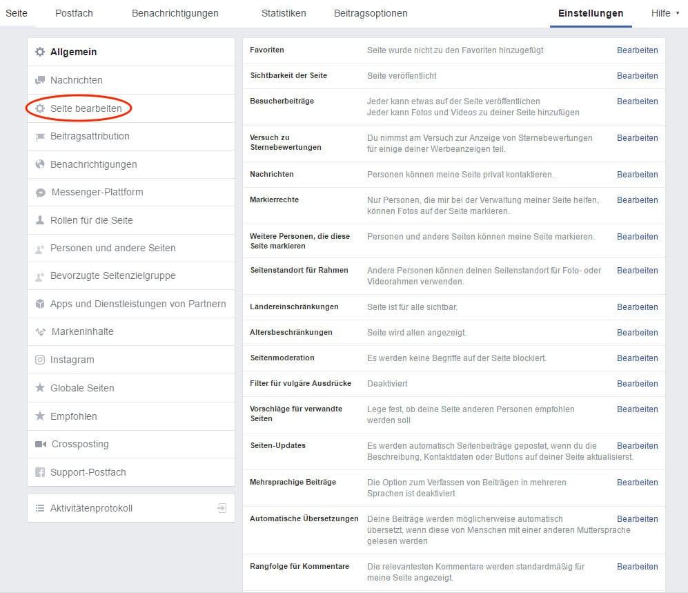 """Sie können die Anordnung (mit Maus umsortieren) und den Namen des Facebook-Bewertungs-Widgets (""""Reiter hinzufügen oder entfernen"""") ändern."""