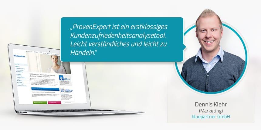 Kundenstimme von Dennis Klehr bluepartner GmbH