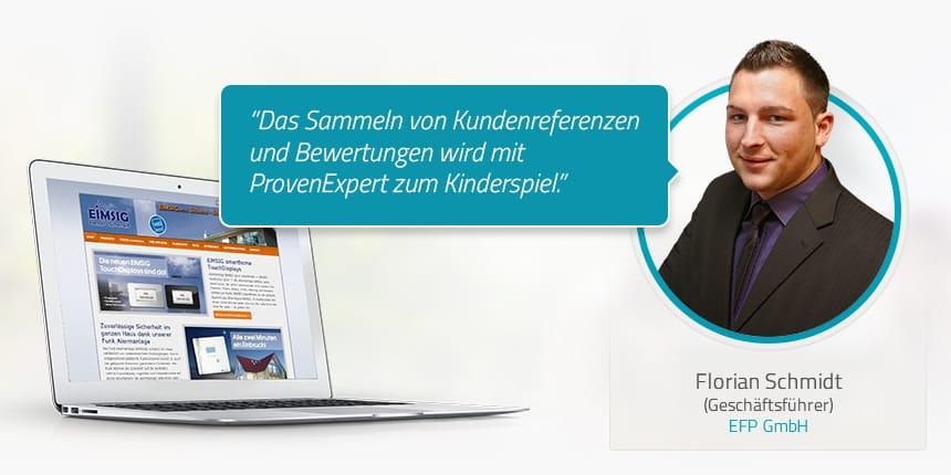 Kundenstimme von Florian Schmidt EFP GmbH
