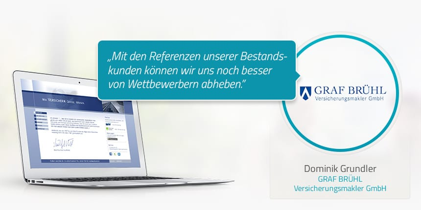 Kundenstimme von Dominik Grundler GRAF BRÜHL Versicherungsmakler GmbH