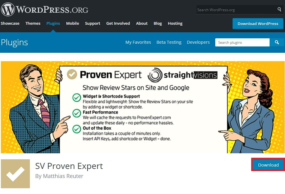 WordPress.org plug-in ProvenExpert Straightvisions