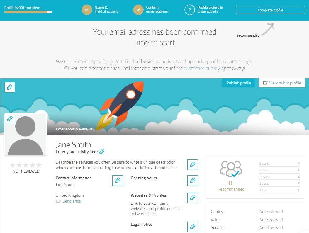1 ProvenExpert Profil Tutorial Startseite