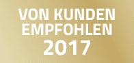 VON KUNDEN EMPFOHLEN 2017