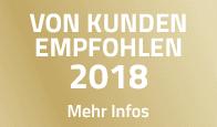 VON KUNDEN EMPFOHLEN 2018