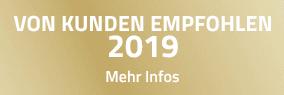 VON KUNDEN EMPFOHLEN 2019