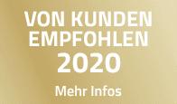 VON KUNDEN EMPFOHLEN 2020