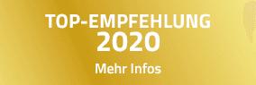 TOP-EMPFEHLUNG 2020