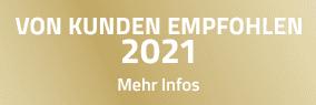 VON KUNDEN EMPFOHLEN 2021