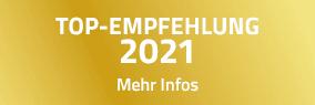 TOP-EMPFEHLUNG 2021