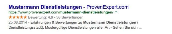 ProvenExpert google suchergebnis