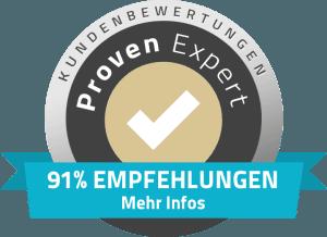 91% Empfehlungen
