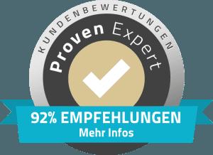 92% Empfehlungen