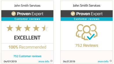 ProvenExpert profile rating seal