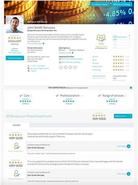 ProvenExpert Profil