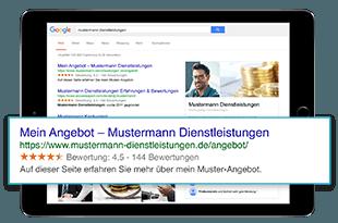 Google-Sterne für mehr sichtbarkeit
