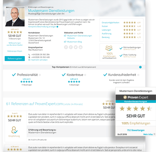 ProvenExpert Profilseite