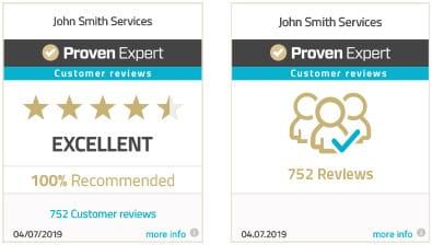 ProvenExpert profile rating seal