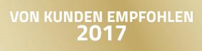 Von Kunden empfohlen 2016