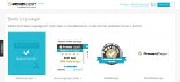 ProvenExpert-Profil Bewertungssiegel